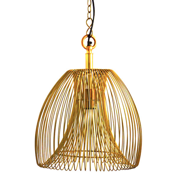 Wire large hanging pendant lamp in gold wooden it be nice wire large hanging pendant lamp aloadofball Choice Image