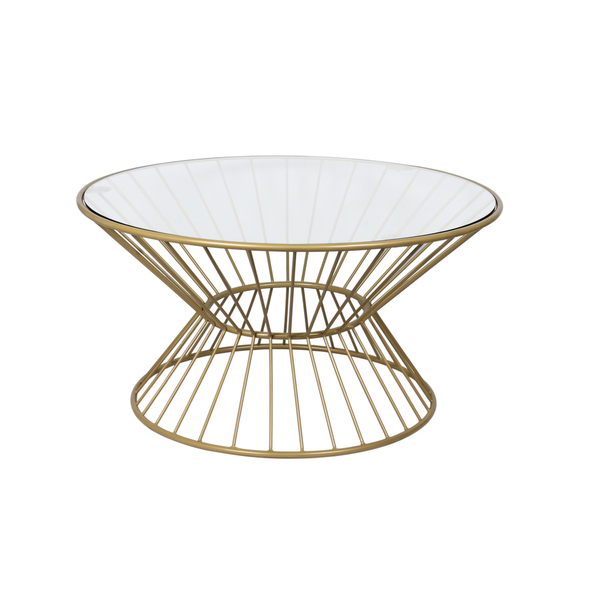 wire coffee table. Gold Wire Framed Glass Top Coffee Table