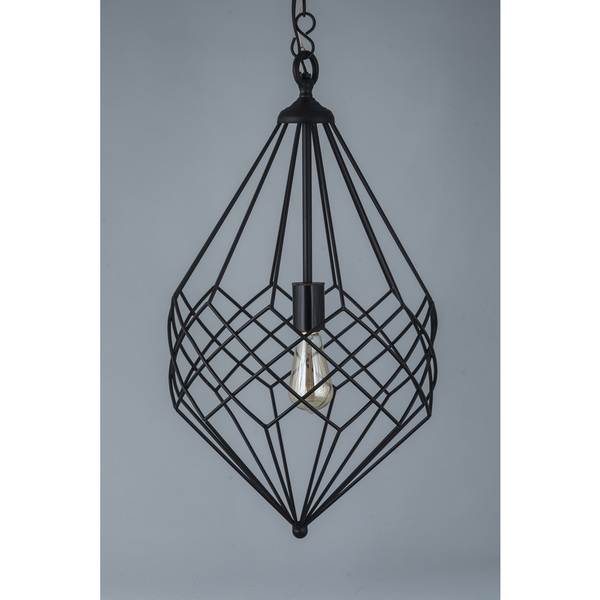 Small Black Metal Wire 1-light Pendant – Wooden-It-Be-Nice