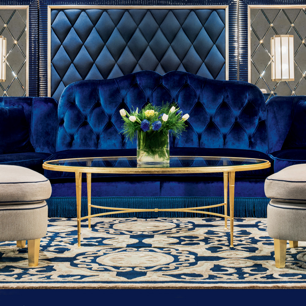 15 High End Contemporary Dining Room Designs: High End Modern Gold Plated Coffee Table