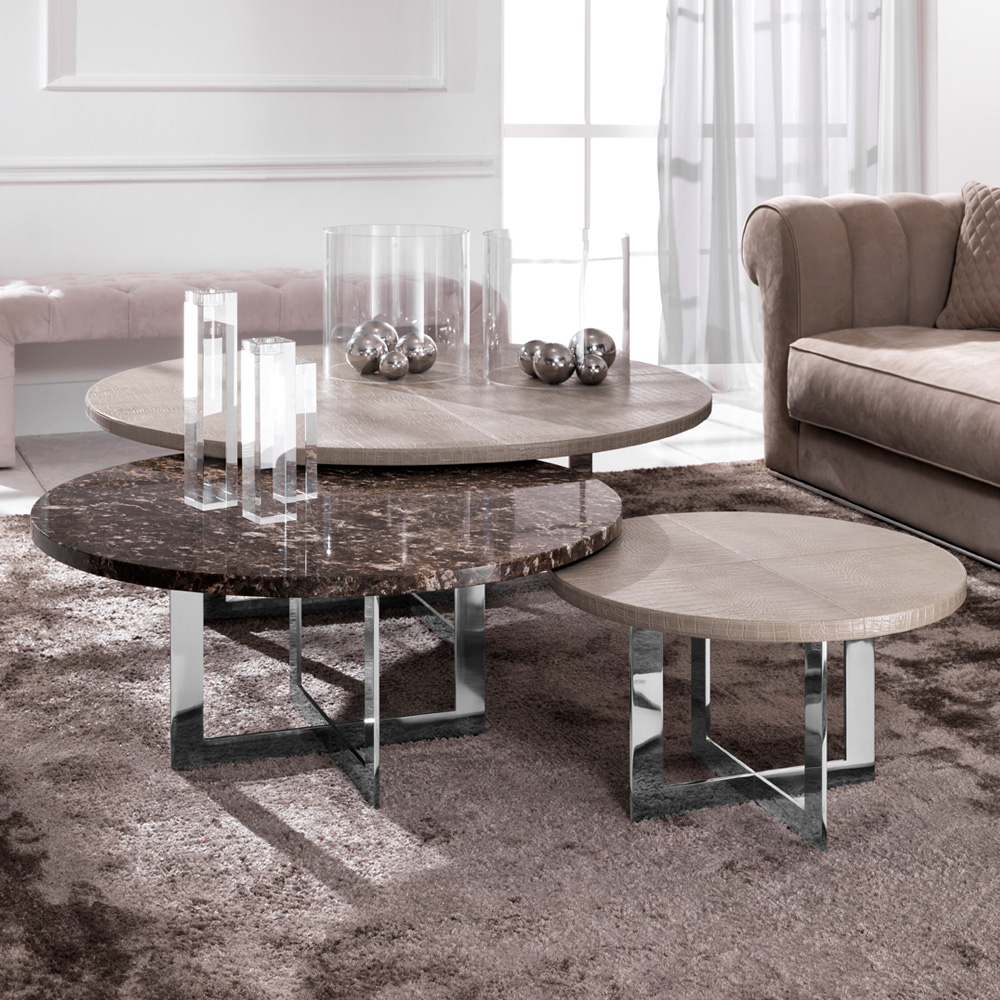 - Luxury Nest Of Round Coffee Tables – Wooden-It-Be-Nice