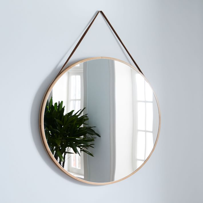 Modern Hanging Mirror Over Sized, How To Hang A Mirror With D Rings
